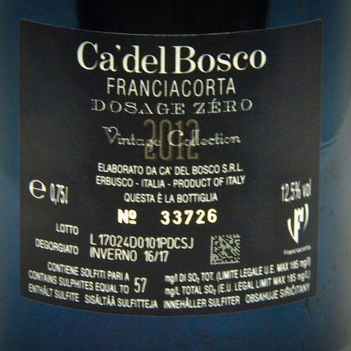 Ca' Del Bosco Franciacorta DOCG Dosage Zero Millesimato